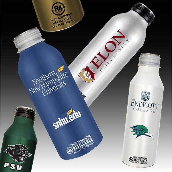 College R4 Reusable Aluminum Bottles